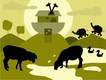 ark noah s stock illustrationer