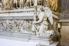 The Ark of Saint Dominic. A Renaissance sarcophagus containing his remains made by Nicola Pisano, Niccolo dell`Arca and Michelangelo. Basilica di San Domenico Stock Photo