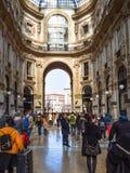 Arkada Galleria Vittorio Emanuele II w Mediolan obraz royalty free