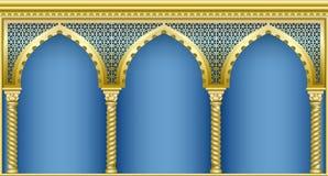 Arkada w orientalnym stylu royalty ilustracja