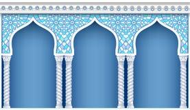 Arkada w orientalnym stylu ilustracji