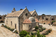 Arkadi正统修道院在克利特 免版税库存照片