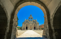 Arkadi-Kloster auf Kreta-Insel, Griechenland Ekklisia Timios Stavros - Moni Arkadiou auf Griechisch Stockfoto
