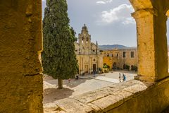 Arkadi kloster crete Royaltyfri Foto