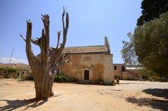 Arkadi kloster och landsgård, Kreta Fotografering för Bildbyråer