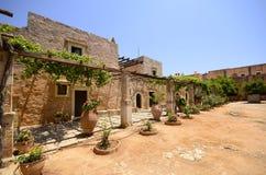 Arkadi kloster och landsgård, Kreta Arkivbild