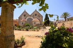 Arkadi kloster och landsgård, Kreta Royaltyfria Foton