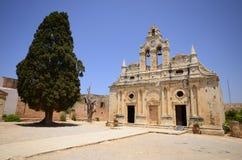 Arkadi kloster och landsgård, Kreta Arkivfoto