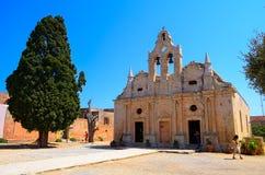 Arkadi kloster och landsgård, Kreta Arkivbilder