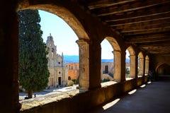 Arkadi kloster och landsgård, Kreta Arkivfoton