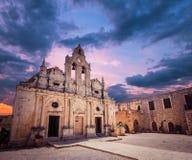 Arkadi kloster på Kretaön, Grekland Royaltyfri Foto