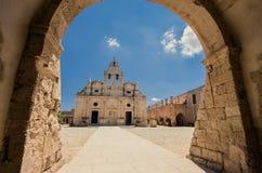 Arkadi kloster på Kretaön, Grekland Royaltyfri Bild