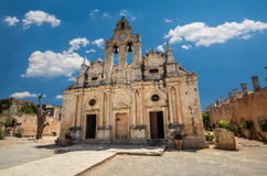 Arkadi kloster på Kretaön, Grekland Arkivfoto