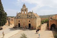 Arkadi Monastery fotografering för bildbyråer