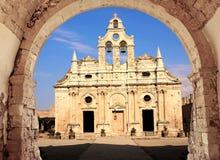 Arkadi monastery. Architecture arkadi monastery in Rethymnon Crete Island Royalty Free Stock Photo