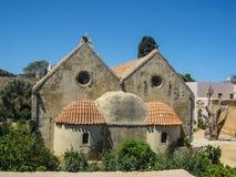 Arkadi Monastery. Architecture arkadi monastery in Rethymnon Crete Island Stock Photography