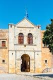 Arkadi Monastery bij het zuidoosten van Rethymnon, Kreta, Griekenland wordt gesitueerd dat stock afbeeldingen