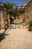 Arkadi monastery  and country yard, Crete Stock Photo