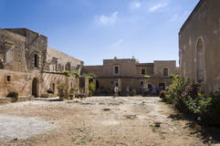 Arkadi monastery courtyard Royalty Free Stock Photography