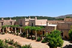 Arkadi Monastery courtyard Stock Images