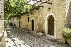 The Arkadi monastery in Crete Stock Photos