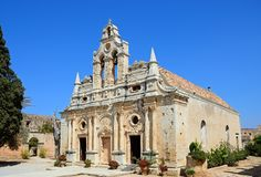 Arkadi monastery, Crete. Stock Images