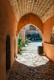 Arkadi Monastery, Crete, Greece. Passageway in the West Gate at the Arkadi Monastery, Arkadi, Crete, Greece Stock Photography