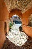 Arkadi Monastery, Arkadi, Crete, Greece. Passageway in the West Gate at the Arkadi Monastery, Arkadi, Crete, Greece Stock Photography
