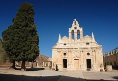 Arkadi monastery in crete island. Pope on arkadi monastery in crete island Royalty Free Stock Photos