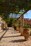 Arkadi Monastery, Crete Moni Arkadiou! Stock Image