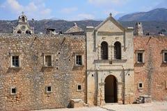 Arkadi Monastery entrance, Crete. Stock Images