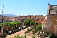 Arkadi Monastery gränsmärke arkivbilder