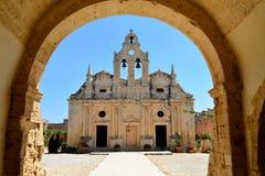 Arkadi Monastery landmark. ARKADI GREECE Greek Monastery church landmark architecture Stock Image