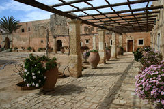 Arkadi Monastery, Moni Arkadio Royalty Free Stock Photography