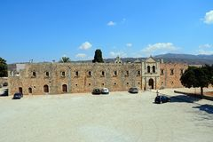 Arkadi Monastery Western Wall. Stock Image