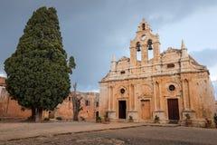 Arkadia kloster på Creete Arkivbilder