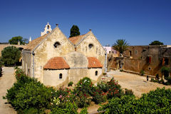 Arkadiou monastery at Crete, Greece Royalty Free Stock Image