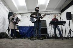 Arkady Kots, συναυλία 12.04.2014 γκαράζ του Κίεβου Στοκ Εικόνα