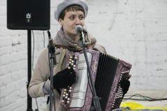 Arkady Kots, concert 12.04.2014 de garage de Kiev Photo stock