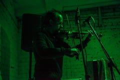 Arkady Kots, concert 12.04.2014 de garage de Kiev Photographie stock