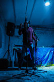 Arkady Kots, concert 12.04.2014 de garage de Kiev Image libre de droits