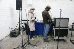 Arkady Kots, concert 12.04.2014 de garage de Kiev Photographie stock libre de droits