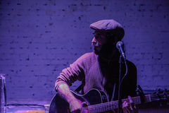 Arkady Kots, concert 12.04.2014 de garage de Kiev Photos stock