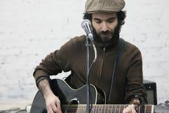 Arkady Kots, concierto 12.04.2014 del garaje de Kiev Fotos de archivo libres de regalías