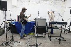 Arkady Kots, Kiev garage concert 12.04.2014 Royalty Free Stock Photo