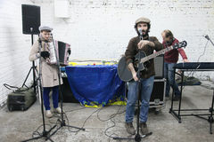 Arkady Kots, Kiev garage concert 12.04.2014 Royalty Free Stock Photography