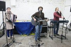 Arkady Kots, Kiev garage concert 12.04.2014 Stock Image