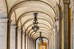 Arkady przy Handlu Kwadratem, Lisbon Fotografia Royalty Free