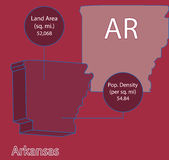 Arkansas 3D Vector map info graphic Stock Photos