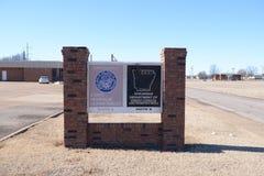 Arkansas-Abteilung des Einkommens-Zeichens Lizenzfreies Stockbild